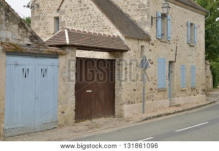 Wy dit Joli Village France - august 8 2015 : the picturesque village in summer