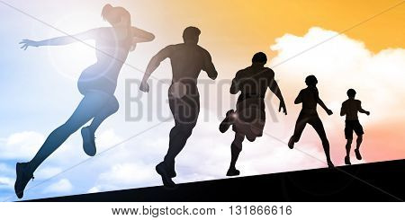 Cardio Training and Building Stamina in Training 3d Illustration Render