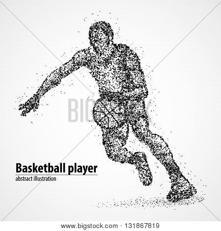 Abstract basketball player of the black circles. Vector illustration.