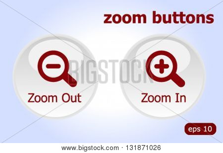 Zoom In and Zoom out buttons