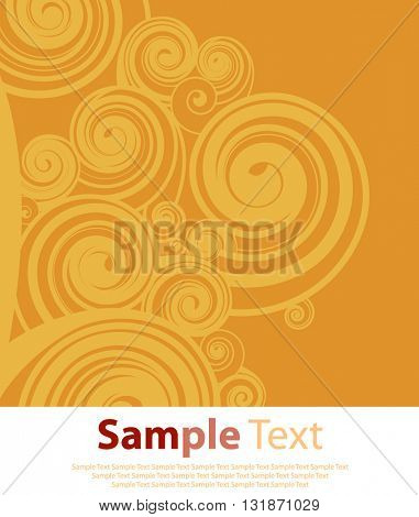 Orange abstract background with circle