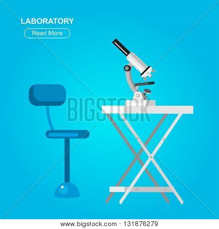 detailed microscope, Biotechnology icons concept, composition of genetic engineering, nanotechnology and genetic modification