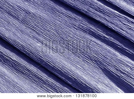 Blue Color Crepe Paper Texture.