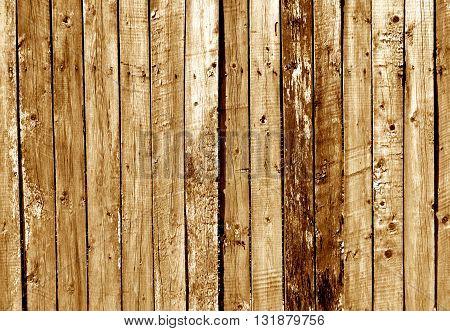 Orange Wooden Fence Texture.