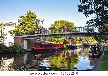 Little Venice canal on London United Kingdom