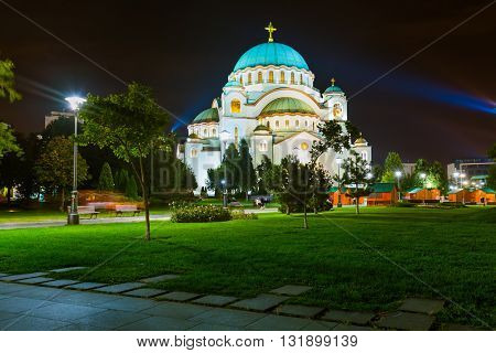 St. Sava Cathedral - Belgrade - Serbia - architecture travel background