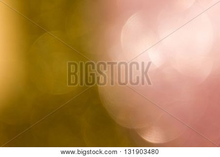 Sweet Romantic Big Pink And Golden Pastel Colour Bokeh Abstract Background, Plain Background, Big Bo