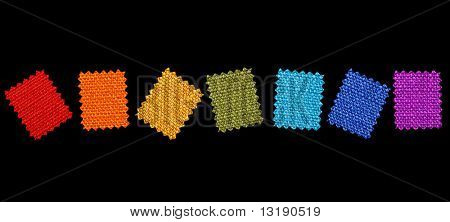 Colorful fabric patterns