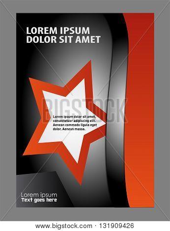 background flyer template. Brochure Flyer design template vector