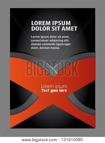 Brochure flyer background. Flyer or Cover Design - Business Vector