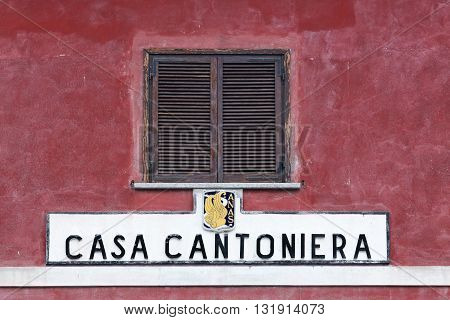 Pre Saint Didier, Italy - July 22, 205: Old road inspector's house in Italy called casa cantoniera in Italian