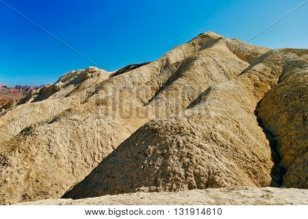 Bad rocks of the Death Valley National Park seen from Zabriskie Point. California, USA