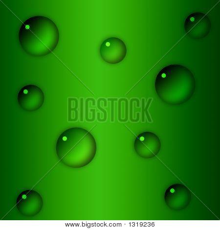 Drops Over Green