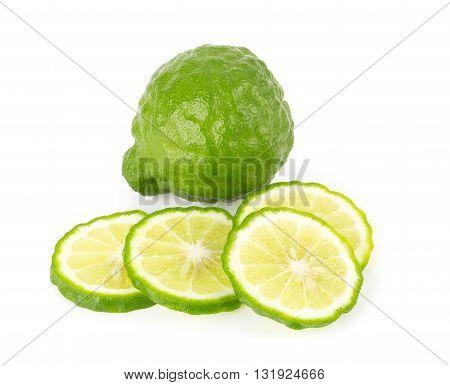 Bergamot Fruit On A White Background