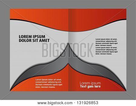 Corporate business brochure design. Bi-Fold Mock up Brochure Design