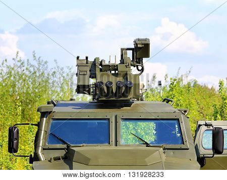 Launcher for non-lethal grenades at car - infantry weapon