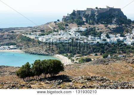 The village of Megali Paralia, on the greek island of Rhodes, Greece.
