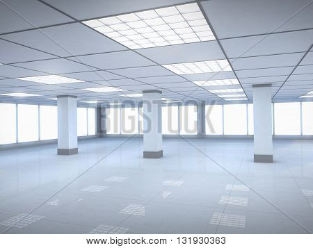 New office room empty (done in 3d)