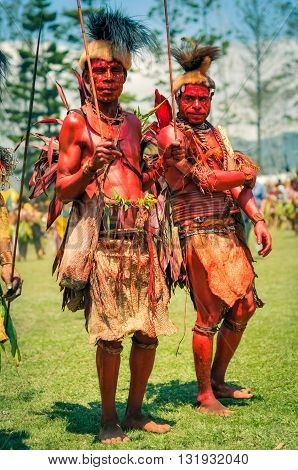 Two Men In Papua New Guinea