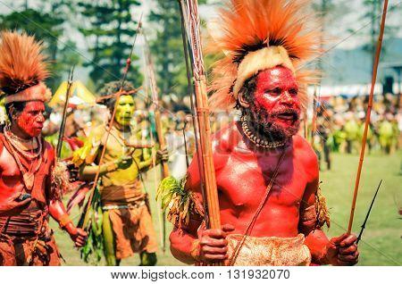 Dancing Man In Papua New Guinea