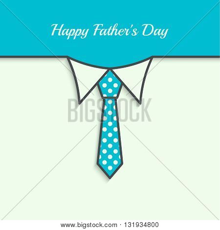 Abstract background with men ties. Happy Father Day. Icon men tie. Cravat polka dot. Elegant tie. Father day. Greetings happy father day. Vector