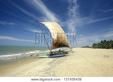 Sri Lanka Negombo Dhoni Fishingboat