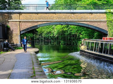 Relaxing Scenery Of Canal