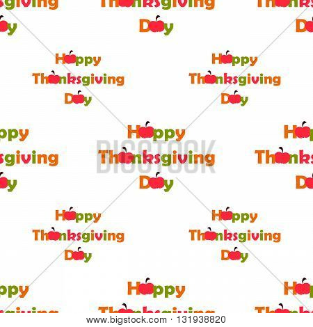 seamless pattern Thanksgiving Day with red apples on the white background. vector. flat