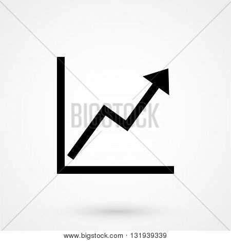 Growth Icon Black Vector On White Background