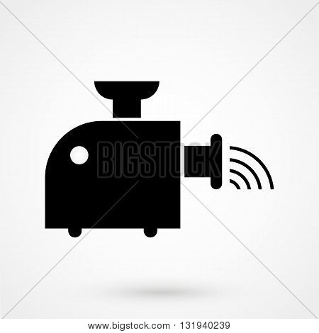 Meat Grinder Icon Black Vector On White Background