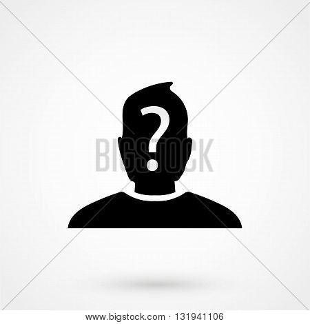 Anonymous Icon Black Vector On White Background I
