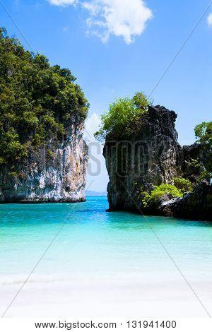 koh lao bi le ( koh hong ) than bok khorani national park krabi thailand.