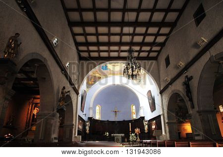 Bandol France - april 20 2016 : the picturesque church in spring