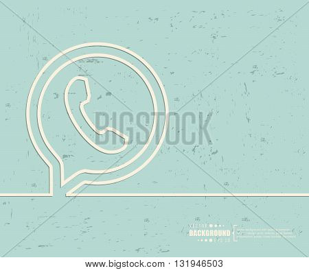 Creative vector phone. Art illustration template background. For presentation, layout, brochure, logo, page, print, banner, poster, cover, booklet, business infographic, wallpaper, sign, flyer.