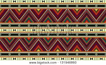 Colorful Triangles Ornamental Zig Zag Rug From Arabia