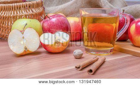 Cider - Hot Alcohol Apple Drink.
