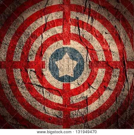 usa stripes and stars backdrop. star in the center of target grunge backdrop
