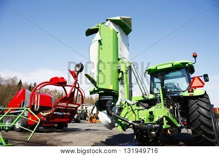 farming machinery, tractor, mowers and plows, latest models