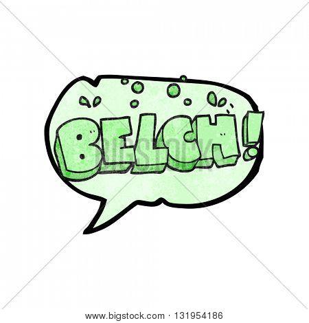 freehand speech bubble textured cartoon belch text