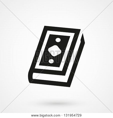 Quran Icon Black Vector On White Background