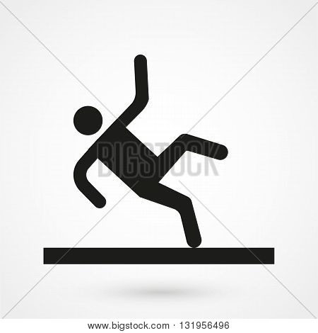 Slippery Icon Black Vector On White Background