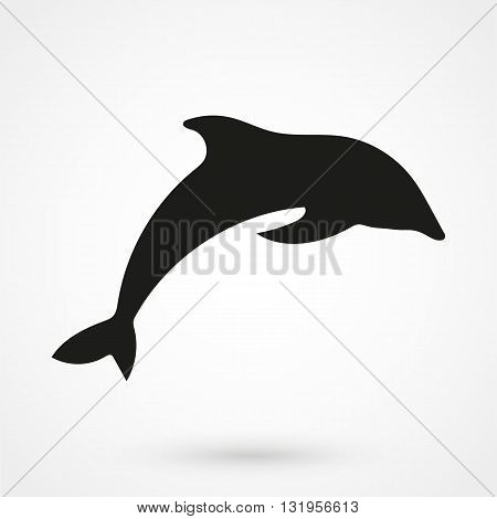 Dolphin Icon Black Vector On White Background