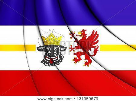 Flag Of Mecklenburg-vorpommern, Germany.