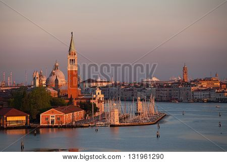 Venice lagoon in the early morning light