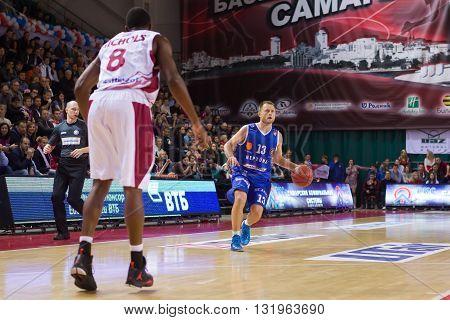 Bc Neptunas Guard Arvydas Eitutavicius (13) With Ball