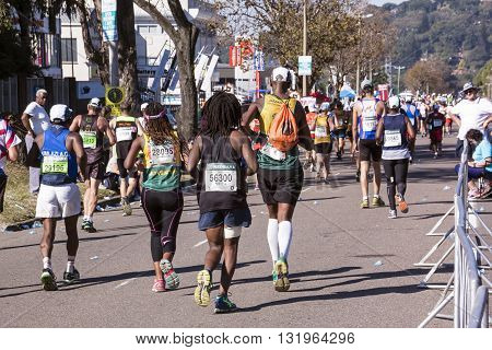 Spectators And Runners At Comrades Marathon In Durban 15