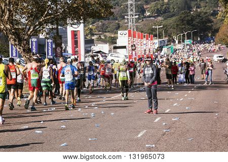 Spectators And Runners At Comrades Marathon In Durban 24