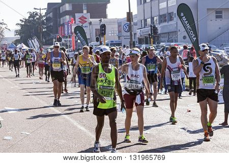 Spectators And Runners At Comrades Marathon In Durban 21