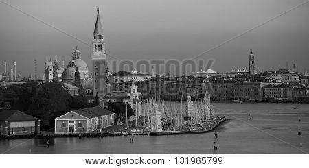 San Giorgio Maggiore Island, Venice Lagoon, seen from arriving cruise ship