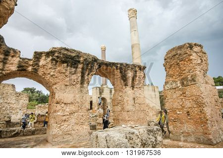 Antonine Baths In Carthage